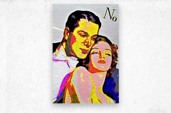 Voulez Vous Couchez Avec Moi - by Neil Gairn Adams  Metal print
