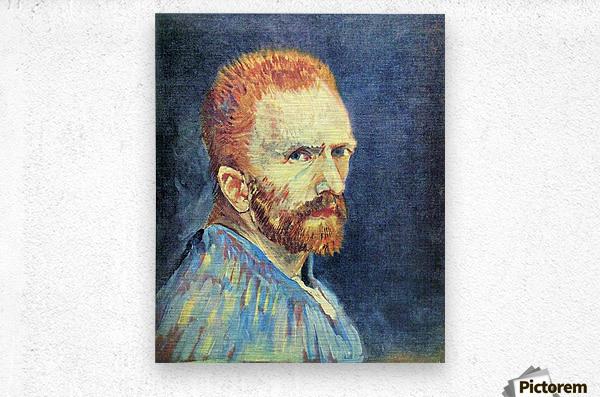 Self-Portrait with short hair by Van Gogh  Metal print