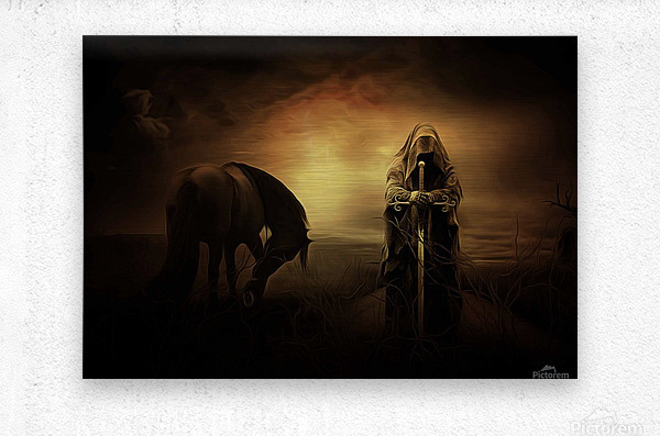 knight with light  Metal print