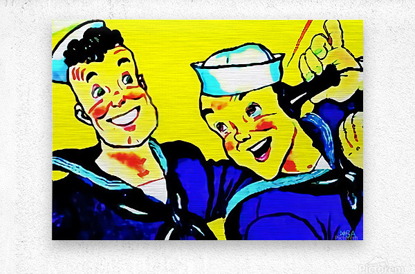 Sailors Calling Home-  by Neil Gairn Adams   Metal print