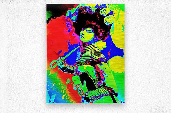 Lady with Parasol - by Neil Gairn Adams   Metal print