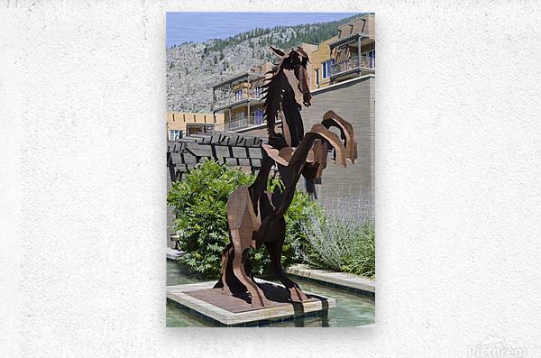 Metal Horse sculpture  Metal print