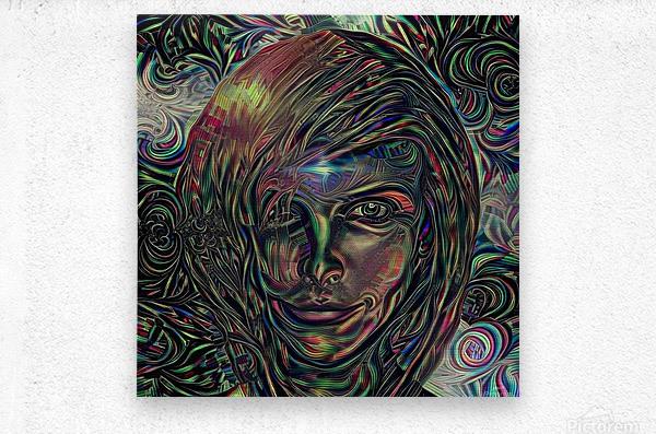 Womans Face  Metal print
