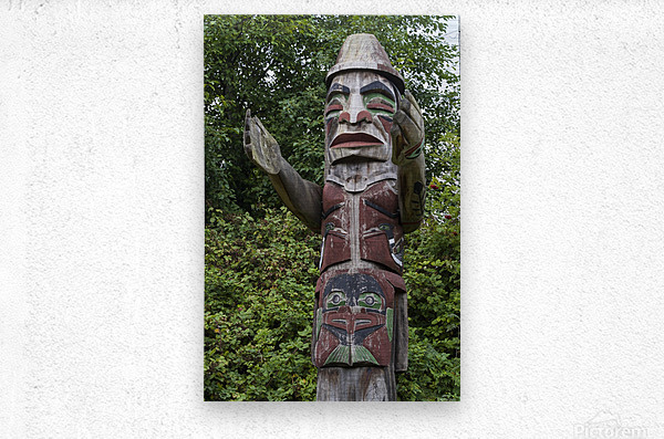 Totem pole of Granville Island 2  Metal print