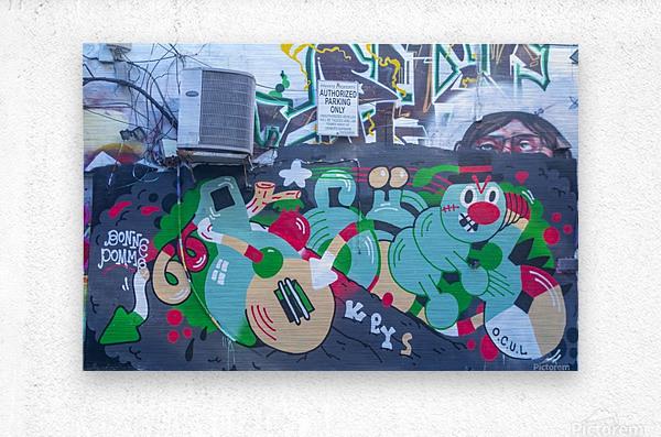 Torontos Graffiti Alley 32  Metal print