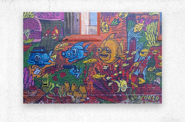 Torontos Graffiti Alley  17  Metal print
