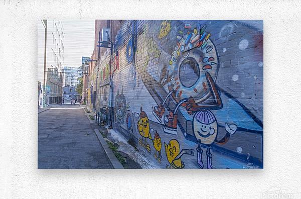 Torontos Graffiti Alley 50  Metal print