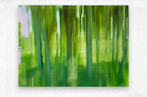 Moving Trees 12 Green Landscape 52-70 360px  Metal print