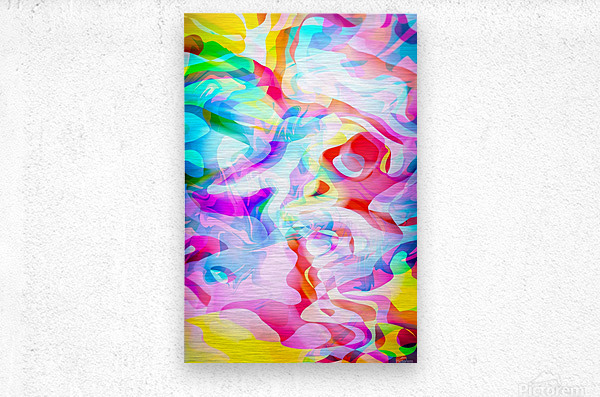 VIVID Abstraction I  Metal print