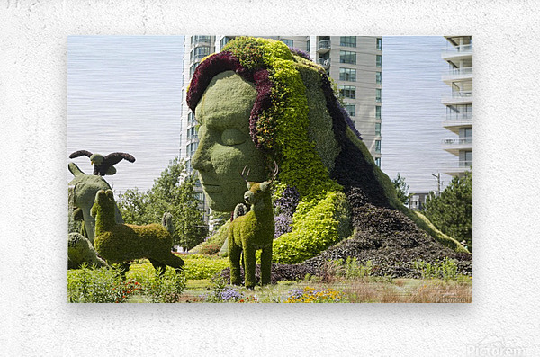 Mother Earth The Legend of Aataentsic with some of her creatures 4  Metal print