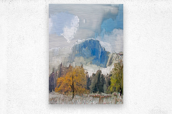 Half Dome from Meadow Digital Painting 52 70 200px  Metal print