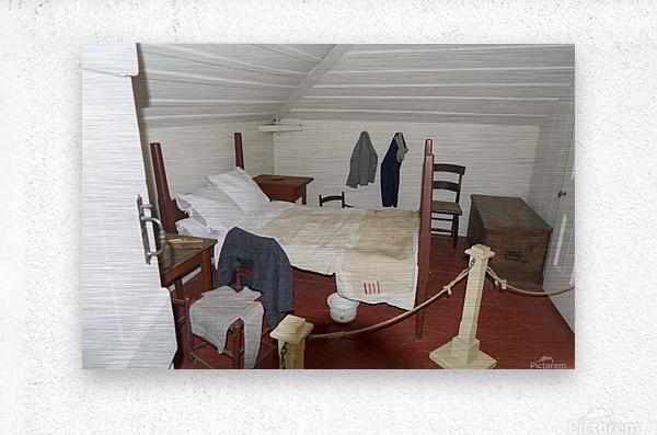 Bedroom in the Lightkeepers House 2  Metal print