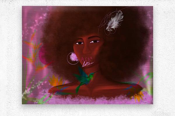 Afro Latina  Metal print