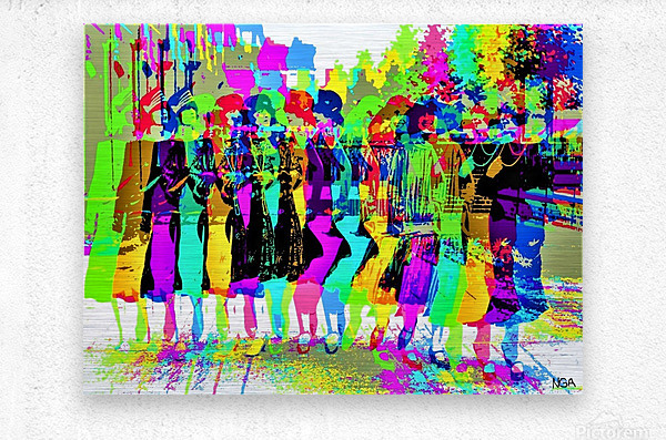 Party Girls -  by Neil Gairn Adams   Metal print