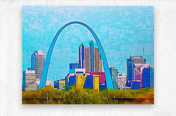 Saint Louis Arch  Metal print