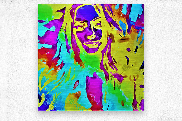 Abstract Girl - by Neil Gairn Adams  Metal print