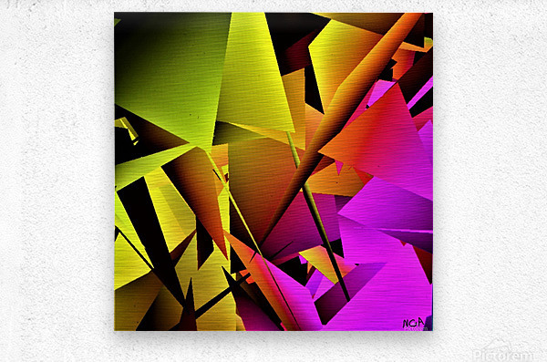 yellow and Pink - by Neil Gairn Adams  Metal print