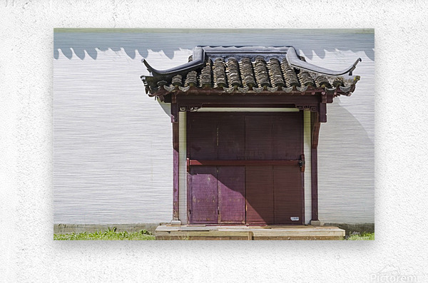 Asian Style Door and Portico  Metal print