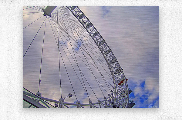 Looking up at The London Eye  Metal print