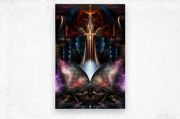The Trilicon Fractal Art  Metal print