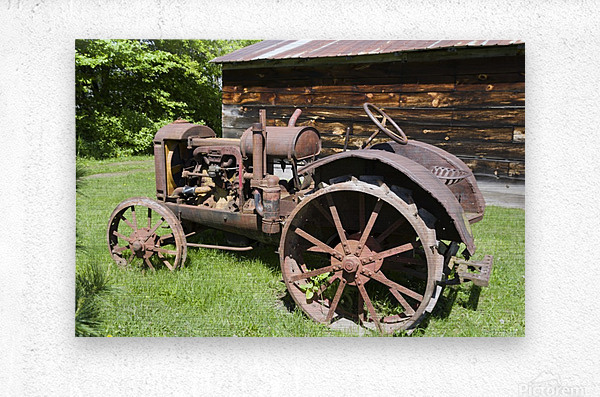 McCormick-Deering gasoline tractor 2  Metal print