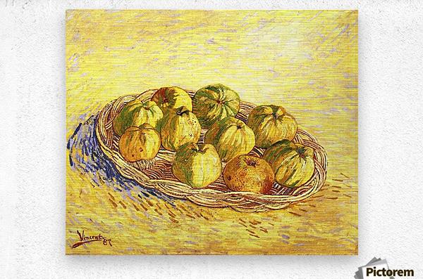 Still life with apple basket -2- by Van Gogh  Metal print
