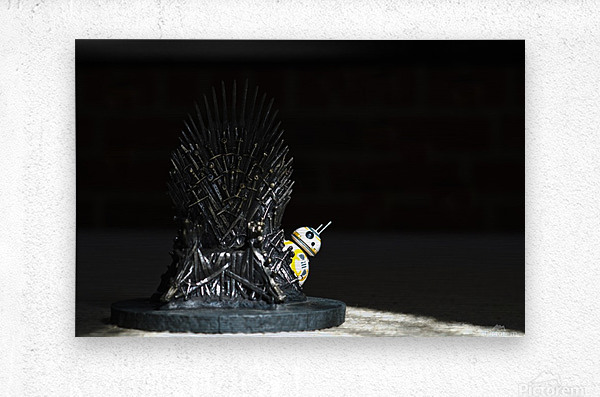 Game of Thrones and BB8  Metal print
