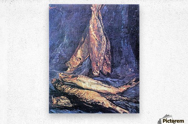 Still Life with kipper by Van Gogh  Metal print