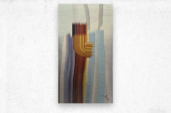 Lone stroke  Metal print