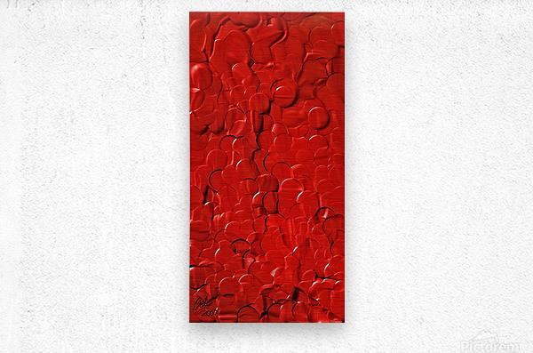 Red cells  Metal print