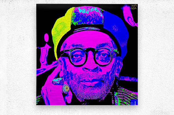 Spike Lee  -  by Neil Gairn Adams   Metal print