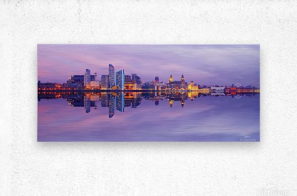 LIV 007 Liverpool Skyline   PANORAMIC  Metal print