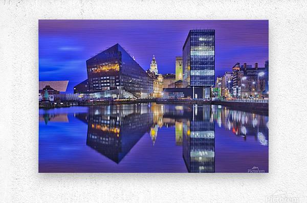 LIV 004 Dock Reflections  Metal print