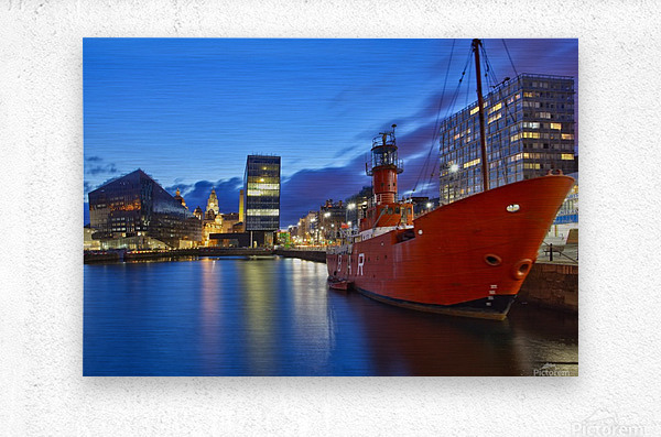 LIV 003 Liverpool Dock  Metal print