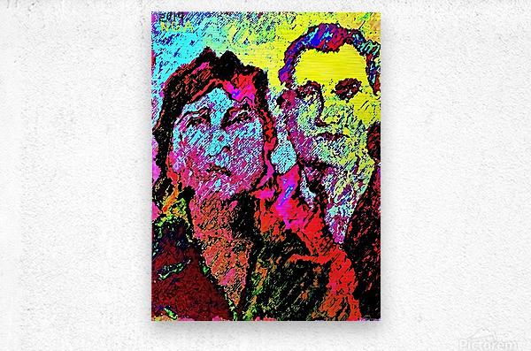 The Happily Married Couple  - by Neil Gairn Adams   Metal print