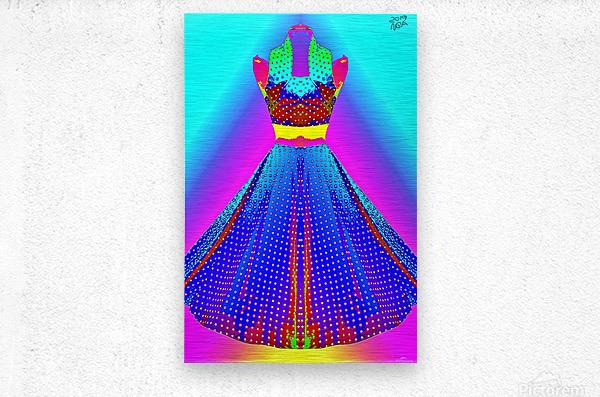 The Dress  -  by Neil Gairn Adams  Metal print