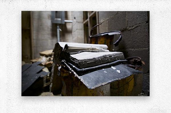 Abandoned Book  Metal print