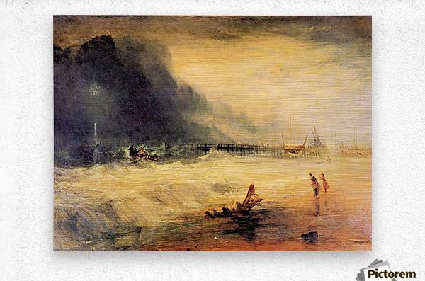 Stranded ship by Joseph Mallord Turner  Metal print