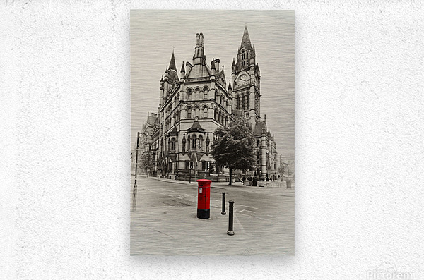 MAN 023 Manchester Town Hall  Metal print