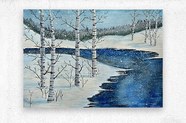 Winter Blues  Metal print