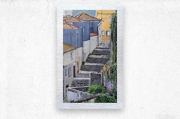 Porto vers la Ribeira  Metal print