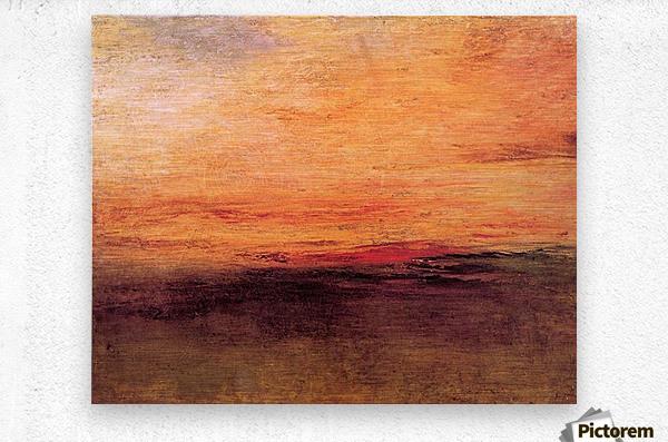 Sunset by Joseph Mallord Turner  Metal print
