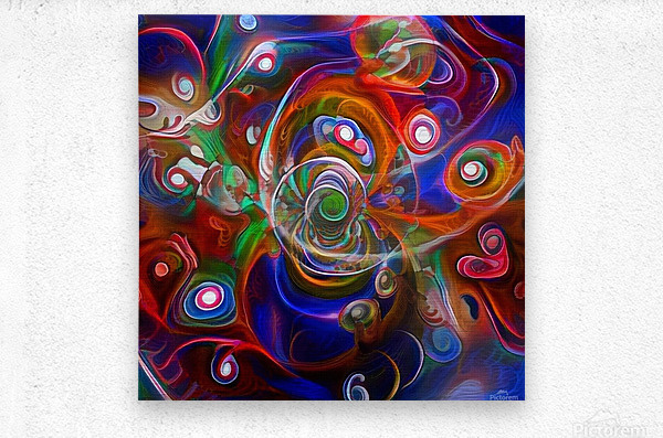 Vortex of Colors  Metal print