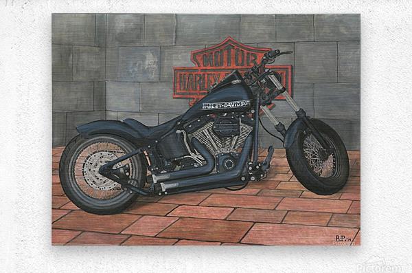 Harley Davidson Motorcycle  Metal print