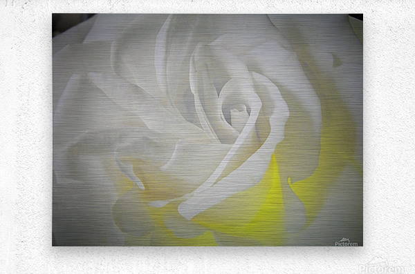 White Layers  Metal print