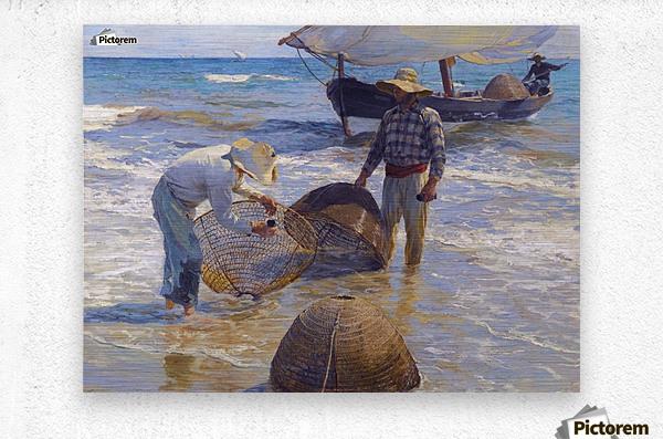 Los Pescadores Valencianos  Metal print