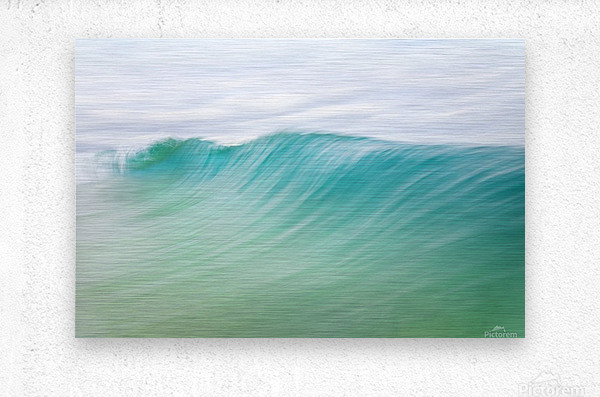 CANARY WAVES 2.  Metal print