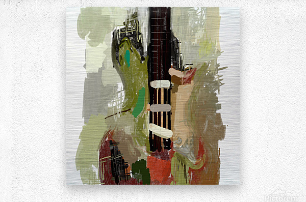 abstract guitar painting   Metal print