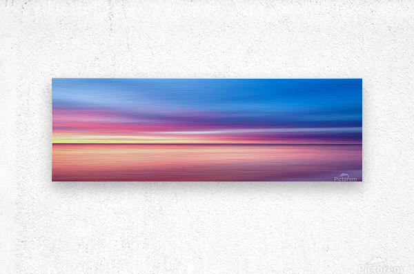 Abstract Sunset V   Panoramic  Metal print