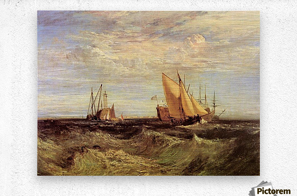Thames at the Medway by Joseph Mallord Turner  Metal print